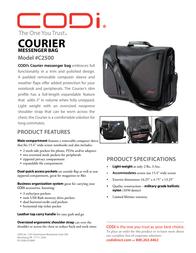 CODi Courier Messenger C2500 Leaflet