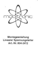 MOBICOOL 12 V to 24 V converter 804K-2412 User Manual