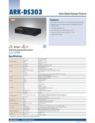 Advantech ARK-DS303F-S6A2E C-CTOS-UUAESC-M6 Leaflet