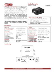 TV One 1T-AP-216 Leaflet