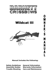 Barnett Crossbows wildcat iii User Guide