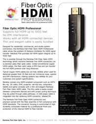 Rainbow Fish Fiber Optic HDMI 55' H3D-BK055F Leaflet