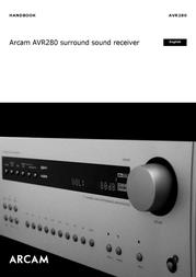 Arcam AVR280 User Manual