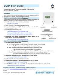 Smarthome Thermostat 2491T1E Leaflet