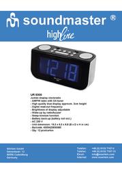 Soundmaster UR 8300 Leaflet