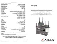 Azden Radio 1201BT User Manual