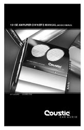 Coustic 161SE User Manual
