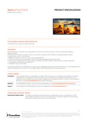 Promethean ActivPanel Touch APT-84 User Manual