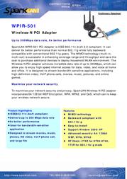 SparkLAN WPIR-501 Data Sheet