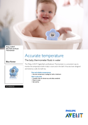 Philips AVENT Baby Bath and Room Thermometer SCH550/20 SCH550/20 Leaflet