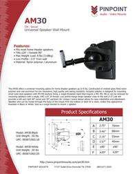 Pinpoint Mounts AM30-Black AM30-BLACK Leaflet
