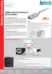 Aztech WL562USB Product Datasheet