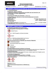 Mibenco Solvent Colour Clear 74731100 250 ml 74731100 Data Sheet