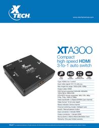 Xtech XTA-300 Leaflet