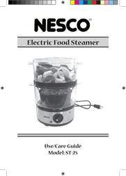 Nesco 5 Qt BPA Free Food Steamer with Rice Bowl ST-25BR User Manual