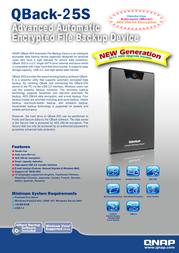 QNAP QBack-25S 540100G0025S Merkblatt