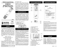 Hanna Instruments HI 98121 pH, redox and temperature measurement equipment, (- 2) - 16 pH HI 98121 Leaflet