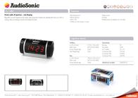 AudioSonic CL-1485 Leaflet