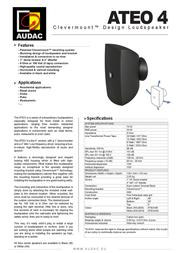 AUDAC ATEO 4 ATEO4/B Leaflet