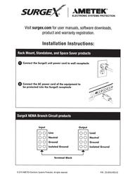 SurgeX SEQ-1U Owner's Manual