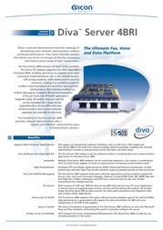 Dialogic Diva Server 4BRI-8M Card 305-486 Leaflet