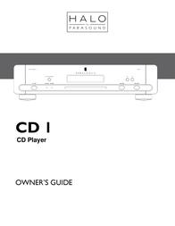 Parasound CD Player CD 1 User Manual