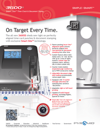Pyramid Time Systems 3600SS Leaflet