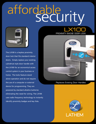 Lathem Keyless Proximity Lock LX100 Leaflet