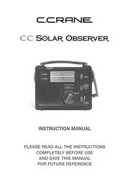 C.Crane CC Solar Observer COBS 사용자 설명서