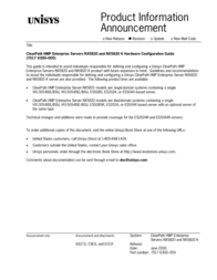 Unisys NX5820 User Manual
