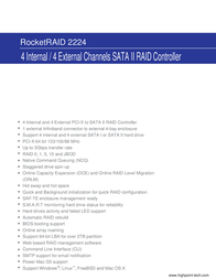 Highpoint RocketRAID 2224 RR2224 Leaflet