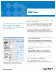 Kofax VRS Elite VP-P005-0001 Leaflet