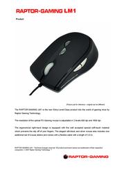 Raptor Gaming Gaming Mouse LM1 636 Leaflet