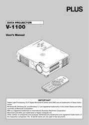 Plus v-1100 User Manual