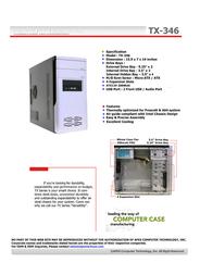 Apex TX-346 Leaflet
