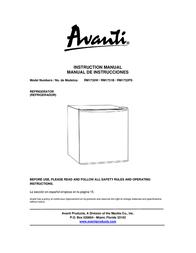 Avanti RM1730W Manual De Usuario