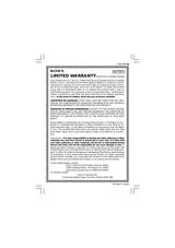 Sony ACC-AMFH Warranty Information