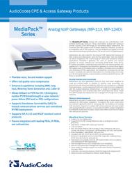 Audiocodes MediaPack 114 MP114/4O/SIP Leaflet