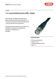 ABUS BNC 1m TVAC40000 Data Sheet