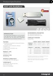 Integral USB 2.0 Ag47 w/ READYBOOST 2GB INFD2GBAG47RB Leaflet