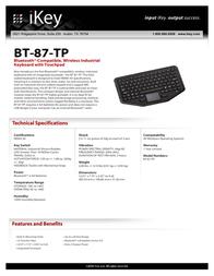iKey BT-87-TP Fascicule