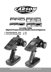 Carson Pistol grip RC 2.4 GHz No. of channels: 3 500500039 User Manual