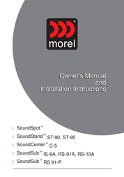 Morel SOUNDSPOT ST-90 User Manual