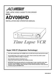 American Dynamics ADV096HD User Manual
