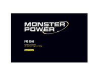 Monster PRO 2500 Rack Mountable PowerCenter with Clean Power Stage 2 User Manual