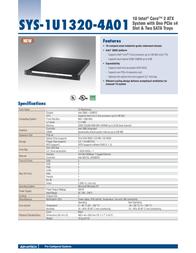 Advantech SYS-1U1320-4A01 Leaflet