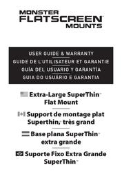 "Monster FlatScreen SuperThin Flat Mount - Up to 104"" Screens User Manual"
