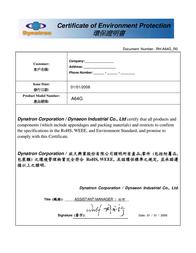 Dynatron A64G Leaflet