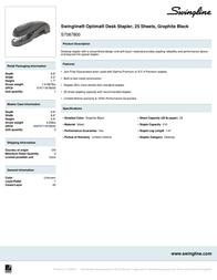 Swingline Optima S7087800 Leaflet