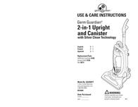Guardian Technologies Guardian Technologies, LLC Vacuum Cleaner GGU350TT User Manual